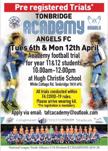 Academy Trials April 2021