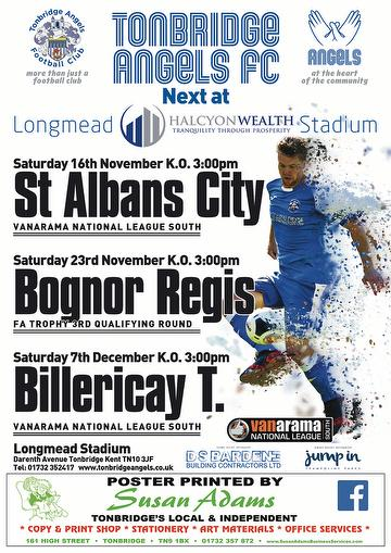 Angels 1st Team Home Match Poster No 5