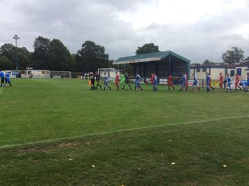 Angels Academy (7) vs Ebbsfleet Utd (0) take to the field, National Youth Alliance 11.09.19.