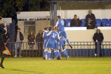 Angels Academy celebrate after scoring in the 2-1 win against Whyteleafe in the FA Youth Cup 2nd Q. Rd. 07.10.20.