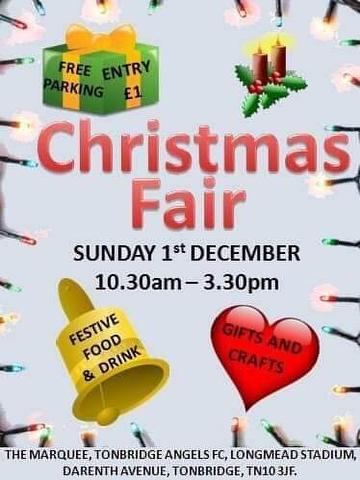 Angels Christmas Fair 1st December 2019