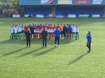 Angels U15s and Langton U15s  prepare for The Henry Grootveldt Memorial Match, May 2019