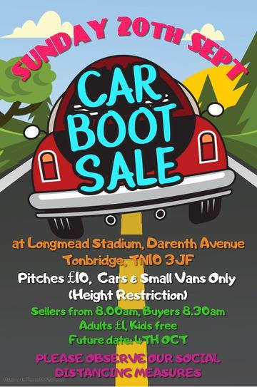 Car Boot Sale 20th Sept 2020