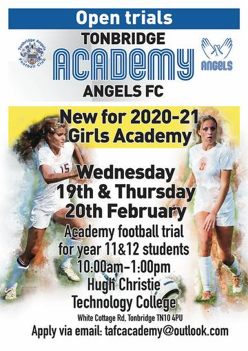 Girls Academy Poster February 2020