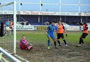 Jason Williams scoring against Billericay Town in a 3-3 draw, 25.01.20.