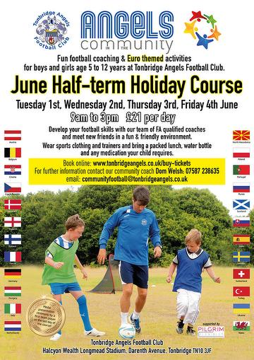 June 2021 Half Term Holiday Course Angels in the Community