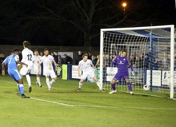 Khale da Costa grabs his second in the 3-2 defeat of Billericay Town 07.12.19.