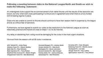 National North and South Statement 3.2.21.