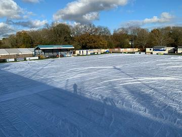 Pitch Covers at The Halcyon Wealth Longmead Stadium November 2020