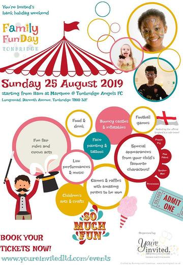 You're Invited Ltd Family Fun Day at Longmead 25.08.19.